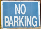 No Barking (now reads No Parking!)