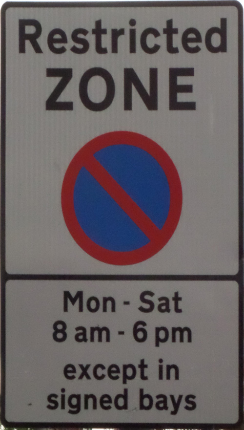 Restricted Zone (High St)